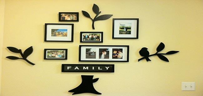 wall photo frames of family as gifts