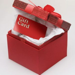 Gifts cards as wedding favors